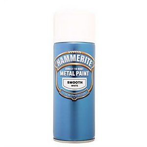 Hammerite White - Exterior Smooth Aerosol Paint - 400ml
