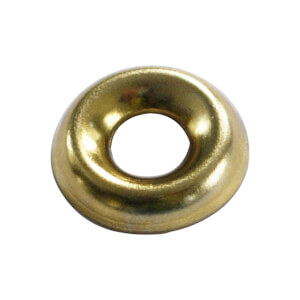Screw Cup Washer - Brass Plated- 4mm - 20 Pack