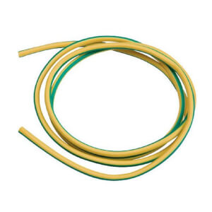 Masterplug Sleeving 3mm x 1m Earth Green/Yellow