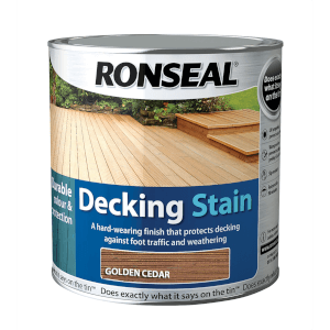 Ronseal Decking Stain Golden Cedar - 2.5L