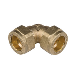 Compression 90 Degree Bend - Brass - 15mm