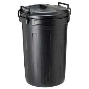Strata Clip Black Bin - 80L