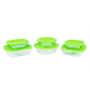 Pyrex Cook & Store 12 Piece Food Storage Set - Green