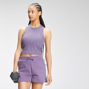 MP Women's Essential Cropped Rib Vest - Smokey Purple