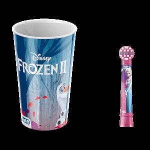 Oral-B Frozen Vervangende Opzetborstel en Plastic Beker