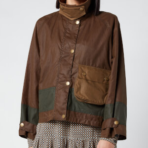 Barbour X Alexa Chung Women's Patricia Wax Jacket - Patchwork/Ancient