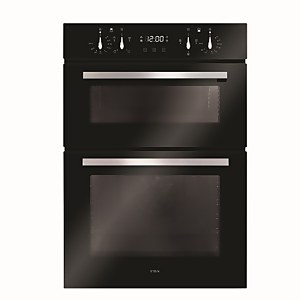 CDA DC941BL Built-in Double Electric Oven with Touch Ccontrol Timer - Black