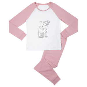 Support Bubble Women's Pyjama Set - White/Pink