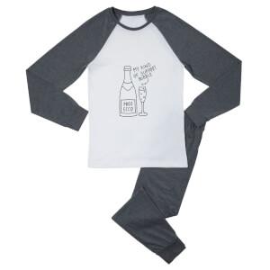 Support Bubble Women's Pyjama Set - White/Grey
