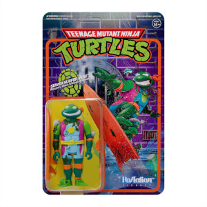 Super7 Teenage Mutant Ninja Turtles ReAction Figure - Sewer Surfer Michelangelo