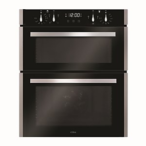 CDA DC741SS Built-under Double Electric Oven with Touch Control Timer - Stainless Steel
