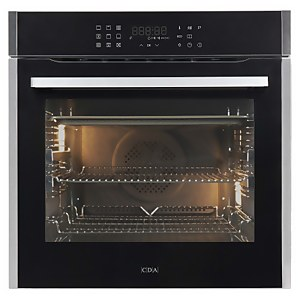 CDA SL570SS Built-in Pyrolytic Single Electric Oven - 13 Function - Stainless Steel