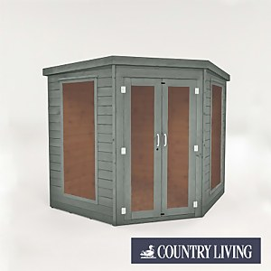 Country Living Maplebeck 7 x 7 Corner Summerhouse Painted + Installation - Thorpe Towers