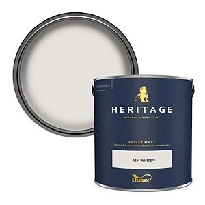 Dulux Heritage Matt Emulsion Paint - Ash White - 2.5L