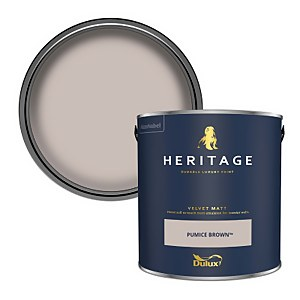 Dulux Heritage Matt Emulsion Paint - Pumice Brown - 2.5L