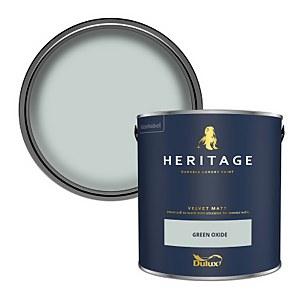 Dulux Heritage Matt Emulsion Paint - Green Oxide - 2.5L