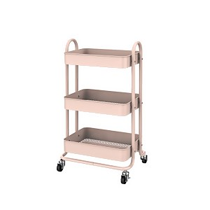 3 Tier Storage Trolley - Blush