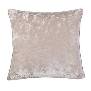 Crushed Velvet Cushion - Champagne