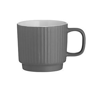 Mason Cash Embossed Line Grey Mug