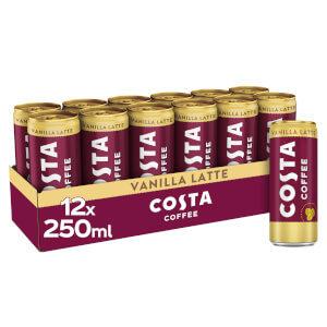 Costa Coffee Vanilla Latte 12 x 250ml
