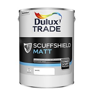 Dulux Trade Scuffshield Matt White Paint - 5L