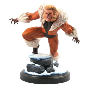 Diamond Select Marvel Premiere Collection Comic Sabertooth Statue