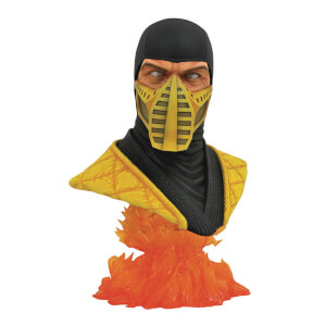Diamond Select Mortal Kombat 11 Legends In 3D Scorpion 1/2 Scale Bust