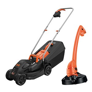 BLACK+DECKER Corded 32cm Lawn Mower and 23cm Strimmer Kit