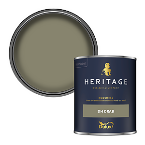 Dulux Heritage Eggshell Paint - DH Drab - 750ml