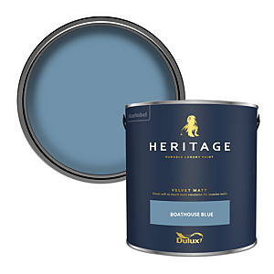 Dulux Heritage Matt Emulsion Paint - Boathouse Blue - 2.5L