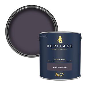 Dulux Heritage Matt Emulsion Paint - Wild Blackberry - 2.5L