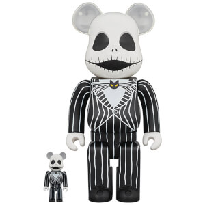 Medicom The Nightmare Before Christmas Jack Skellington (2021) 100% X 400% Be@rbrick 2-pack
