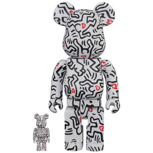Medicom Keith Haring 8 100% X 400% Be@rbrick 2-pack