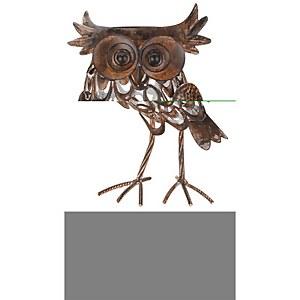 Solar Silhouette Giant Owl 38x20x12.5cm