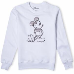 Disney Mickey Mouse Sketch Sweatshirt - White