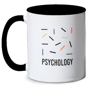 Psychology Abstract Mug - White/Black