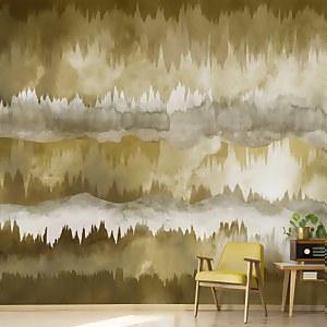 The Horizon Ochre Wall Mural