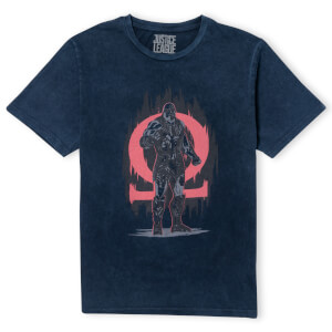 Justice League Darkseid Unisex T-Shirt - Navy Acid Wash