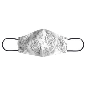 Overlapped Paisley Face Mask