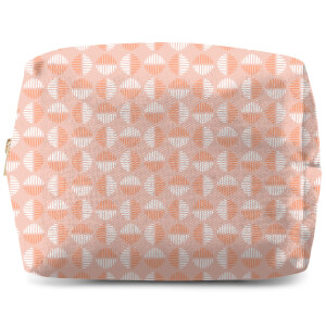 Retro Pink Circles Wash Bag