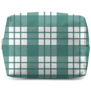Tartan Green Wash Bag
