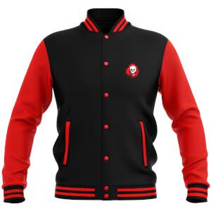Skullsplat Varsity Jacket - Red/Black