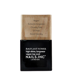 nails inc. Plant Power Nail Varnish Top Coat 14ml