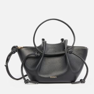 Yuzefi Women's Small Mochi Leather Shoulder Bag - Black