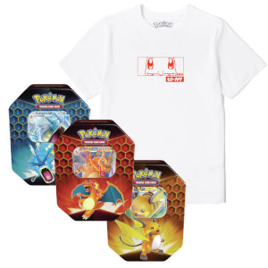 Pokémon Charmander Tee & Pokémon TCG: Hidden Fates Tin Bundle