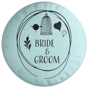 Bride And Groom Round Cushion