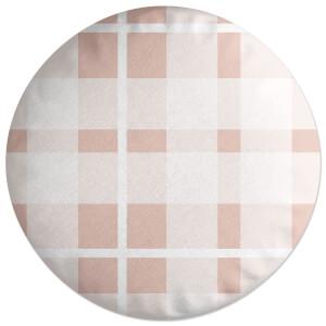 Plush Tartan Round Cushion