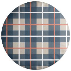 Tartan Colours Round Cushion