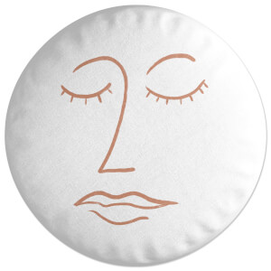 Abstract Face Round Cushion