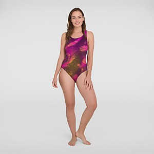 Women's Placement Powerback Swimsuit Black